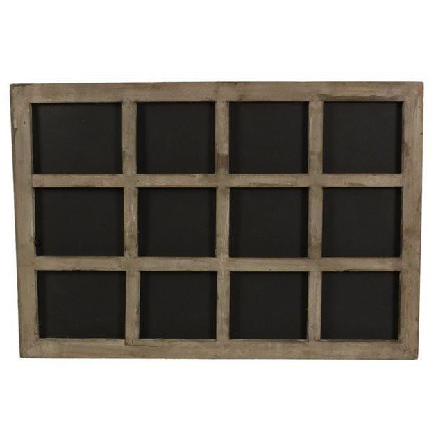 Decoration c dautrefois tableau ardoise bois 12 compartimen - Lardoise murale noire un objet de deco pour votre interieur ...
